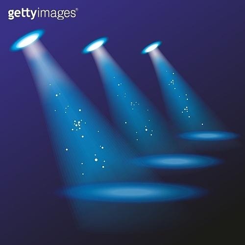Blue spotlights. Vector illustration. . spotlights