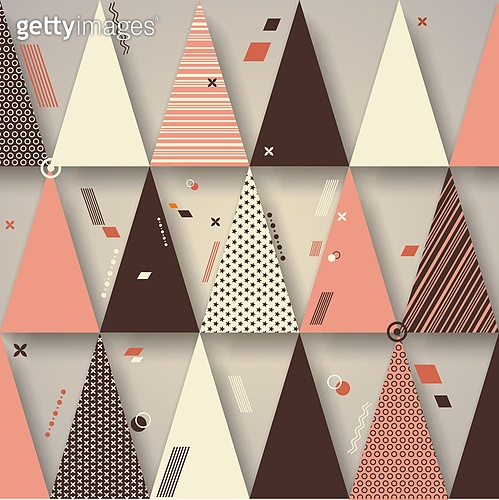 Retro triangles background, use for covers, banners, flyers and posters with abstract  geometric design. . Retro triangles background,