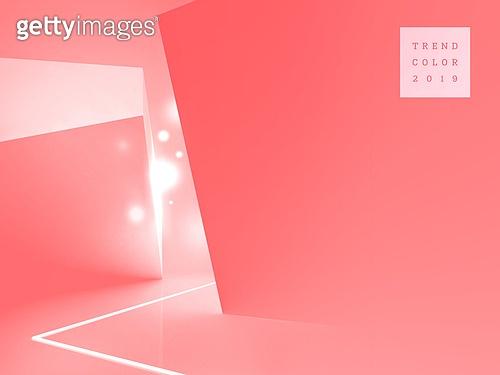 리빙코랄, 백그라운드, 그래픽이미지, 트렌드, 활력, 사이버스페이스 (컨셉)