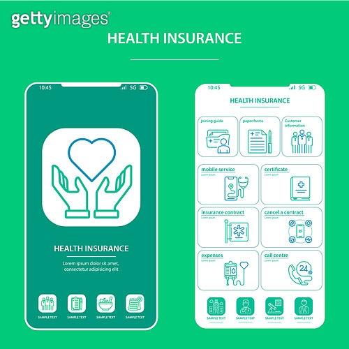 아이콘세트 (아이콘), 상해 (건강이상), 상해보험, 보험 (주제), 의학 (과학), 라인아이콘, 웹모바일 (유저인터페이스), 보험료, 건강관리 (주제), 건강검진 (진찰)