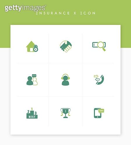 아이콘, 비즈니스, 보험 (주제), 녹색 (색상), 아이콘세트 (아이콘)
