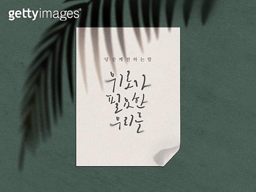 프레임, 그림자, 실루엣 (이미지테크닉), 잎, 단순 (컨셉)