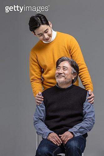 한국인, 아빠, 아들, 가족, 미소, 신뢰 (컨셉)