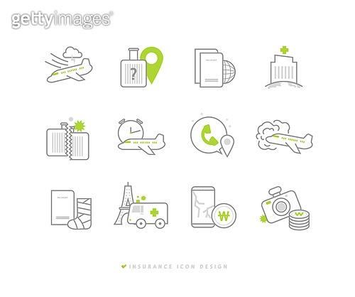 아이콘, 건강한생활 (주제), 건강관리 (주제), 보험 (주제), 아이콘세트, 여행, 여행자보험