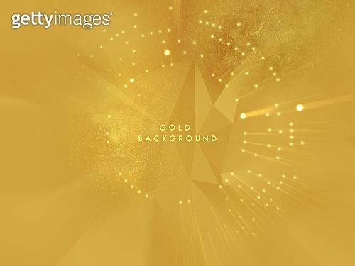 백그라운드, 금색 (색상), 방사형