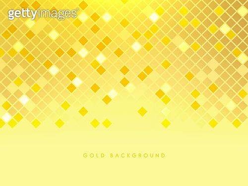 백그라운드, 금색 (색상), 정사각형모양 (이차원모양), 패턴