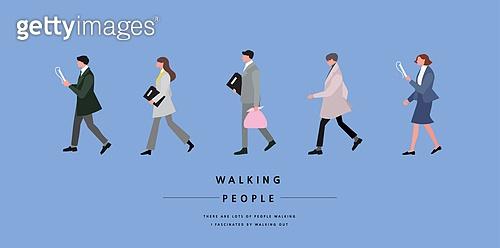 사람, 걷기, 옆모습, 직업, 비즈니스, 비즈니스우먼, 화이트칼라 (전문직), 서류