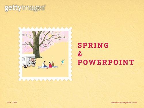 파워포인트, 메인페이지, 추억, 프레임, 우표, 봄, 꽃, 계절, 파스텔톤