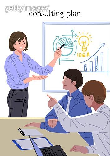 컨설턴트, 조언 (컨셉), 비즈니스우먼, 보험설계사 (금융직), 금융