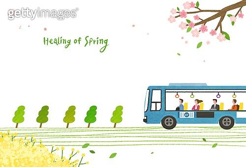 봄, 풍경 (컨셉), 희망, 선 (인조물건), 버스