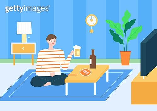 팬츠드렁크, 집, 편안함 (컨셉), 라이프스타일, 휴식, 혼술, 맥주