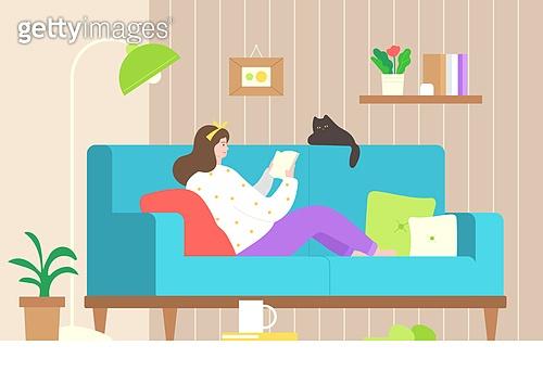 팬츠드렁크, 집, 편안함 (컨셉), 라이프스타일, 휴식, 고양이 (고양잇과)
