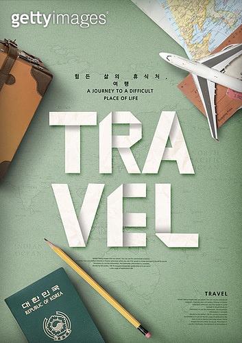 그래픽이미지, 탑앵글 (카메라앵글), 오브젝트 (묘사), 직업, 타이포그래피 (문자), 여행, 가이드 (직업), 비행기