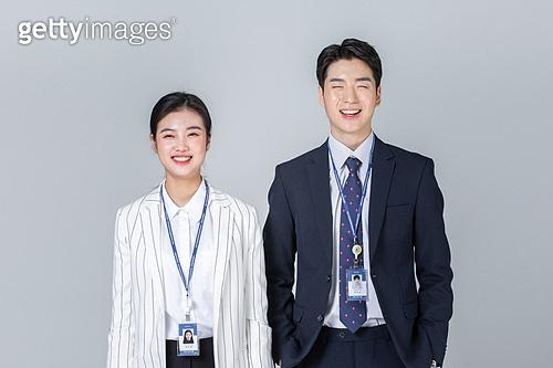 청년 (성인), 여성, 남성, 신입사원 (화이트칼라), 미소, 밝은표정