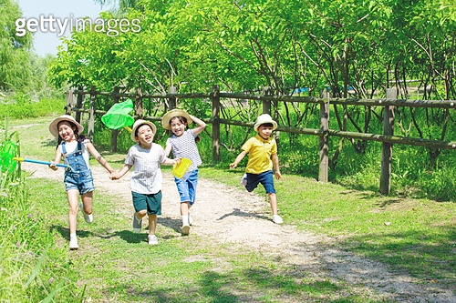 어린이 (인간의나이), 초등학생, 여름방학, 방학, 곤충채집, 미소, 즐거움