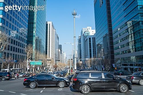 자동차, 거리 (도시도로), 교통, 육상교통수단, 교통체증 (교통), 출퇴근 (여행하기), 러시아워 (주제), 도시거리, 러시아워