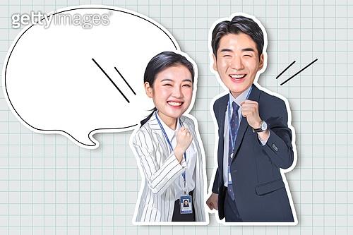 그래픽이미지 (Computer Graphics), 사람 (All People), 캐릭터 (컨셉), 비즈니스, 비즈니스맨, 말풍선, 이모티콘, 스티커, 유머, 얼굴표정 (커뮤니케이션컨셉), 안내판 (표지판)
