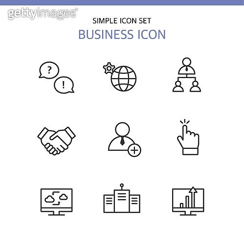 아이콘세트 (아이콘), 라인아이콘, 비즈니스, 악수, 커뮤니케이션