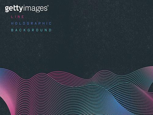 백그라운드, 선, 홀로그램, 패턴, 곡선