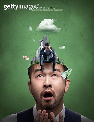 그래픽이미지, 비즈니스, 화이트칼라 (전문직), 고통, 스트레스 (컨셉), 절망, 얼굴 (사람머리), 남성