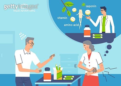 포장, 과대포장, 과대광고, 쇼핑 (상업활동), 알레르기, 부작용, 영양제, 노인 (성인)