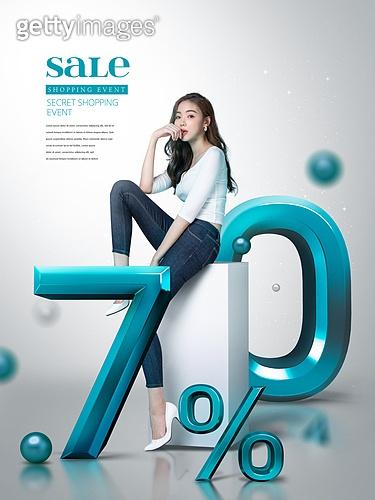그래픽이미지, 편집디자인 (이미지), 포스터, 상업이벤트 (사건), 세일 (사건), 쇼핑 (상업활동), 여성, 20-29세 (청년), 바디라인 (날씬함)