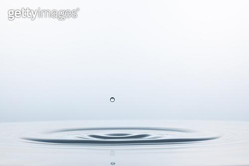 스튜디오촬영, 물 (자연현상), 파문 (물체묘사), 역광, 백그라운드, 깨끗함, 패턴, 물결, 방울 (액체), 흰색
