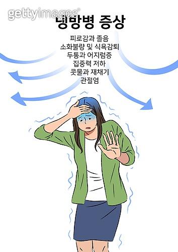 뜨거움 (컨셉), 여름, 라이프스타일, 여성 (성별), 냉방병