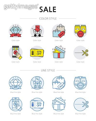 아이콘, 아이콘세트 (아이콘), 라인아이콘, 마트, 쇼핑, 세일, 장바구니, 쿠폰, 행사, 모바일