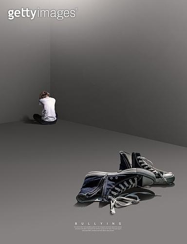 그래픽이미지, 사회이슈 (주제), 왕따 (괴롭힘), 왕따, 스트레스 (컨셉), 한명 (사람의수), 외로움 (컨셉), 폭력 (사회이슈), 십대 (인간의나이), 백수