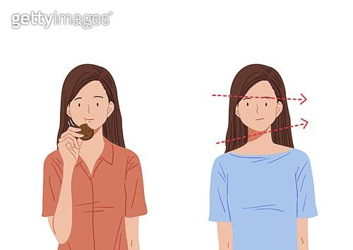포즈 (몸의 자세), 자세교정법, 사람, 나쁜자세, 얼굴모양 (의인화)
