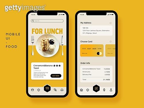 모바일템플릿 (웹모바일), 스마트폰, Graphical User Interface (Topic), 모바일앱, 음식, 모바일결제