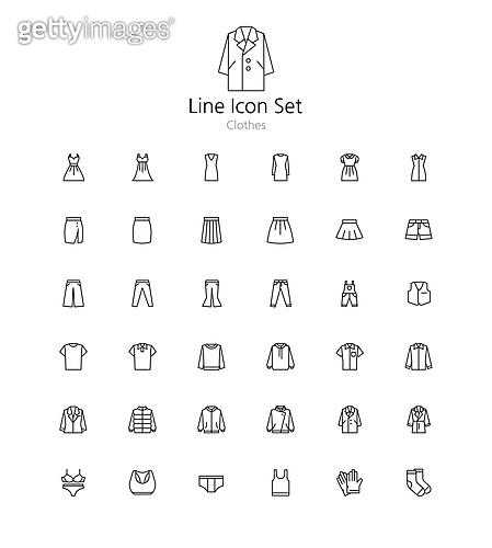 아이콘세트 (아이콘), 라인아이콘, 패션, 의상, 트렌드