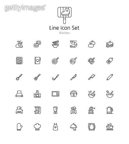 아이콘세트 (아이콘), 라인아이콘, 주방, 부엌, 쿠킹