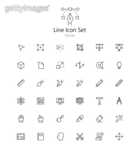 아이콘세트 (아이콘), 라인아이콘, 디자인, 연필, 드로잉