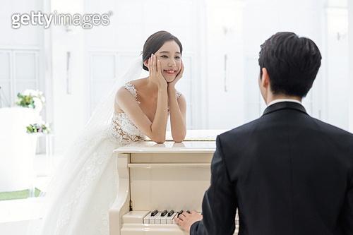 결혼, 결혼식, 신랑, 신부 (결혼식역할), 피아노, 행복
