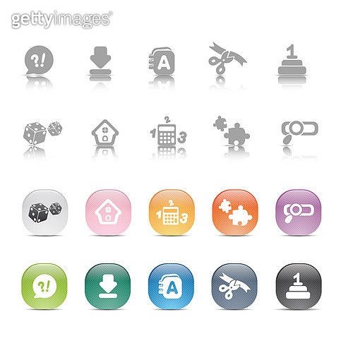 아이콘세트 (아이콘), 그림아이콘, 다운로드, 검색, 퍼즐