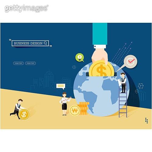일러스트, 벡터 (일러스트), 플랫디자인, 비즈니스, 금융, 재정, 저축