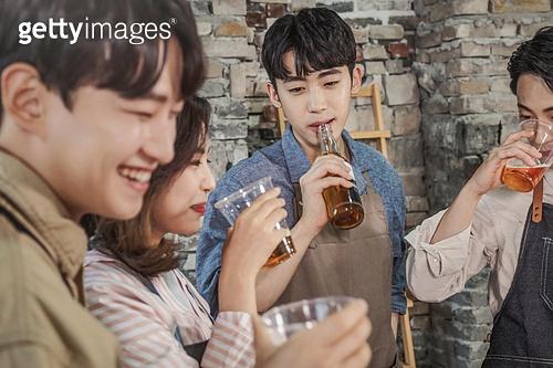 수제맥주, 만들기, 친목회 (사건), 맥주잔, 즐거움 (컨셉), 미소