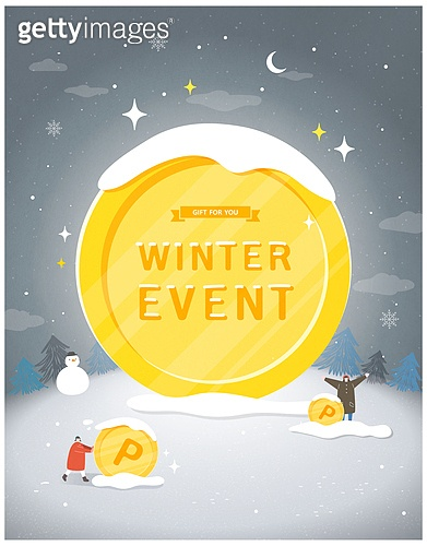 일러스트, 벡터 (일러스트), 상업이벤트 (사건), 겨울, 팝업, 눈사람, 선물 (인조물건)