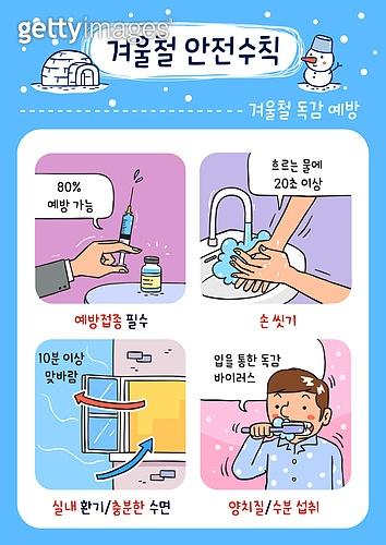 안전, 안전교육, 겨울, 감기 (질병), 독감백신, 깨끗함 (좋은상태)