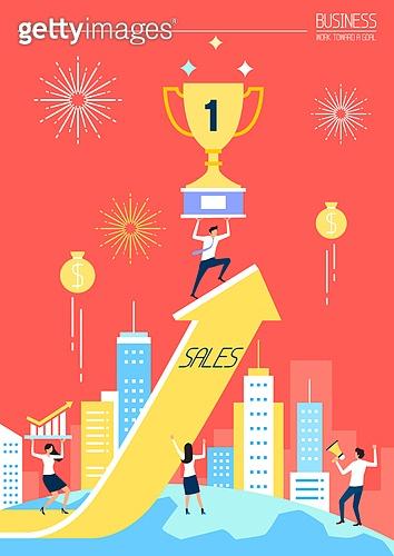 비즈니스, 성공, 희망, 비즈니스맨, 사람, 축하 (컨셉), 일등 (승리), 화살표, 트로피