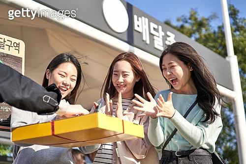 라이프스타일, 한국인, 한강 (강), 한강공원 (서울), 배달부, 배달음식, 배달, 음식, 피자