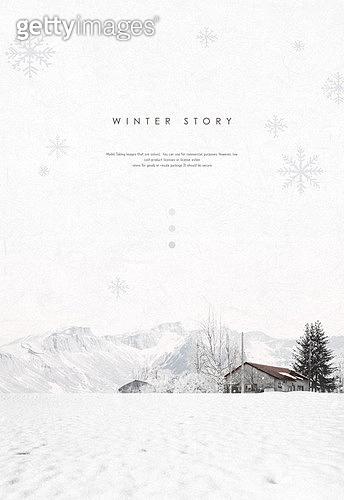 백그라운드, 계절, 겨울, 눈 (얼어있는물), 풍경 (컨셉), 설경, 집