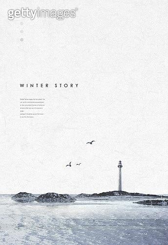 백그라운드, 계절, 겨울, 눈 (얼어있는물), 풍경 (컨셉), 설경, 바다