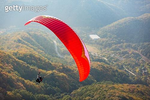 한국인, 익스트림스포츠, 패러글라이딩 (패러슈팅), 비행, 비행 (움직이는활동), 취미, 레저활동, 레저활동 (활동), 여가 (주제), 도전 (컨셉), 모험, 익스트림스포츠 (스포츠), 자유, 패러슈팅 (항공스포츠), 가을
