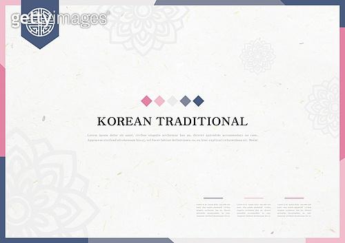일러스트, 벡터 (일러스트), 브로슈어 (템플릿), 전통문화 (주제), 패턴, 꽃문양, 전통문양, 한지, 프레임
