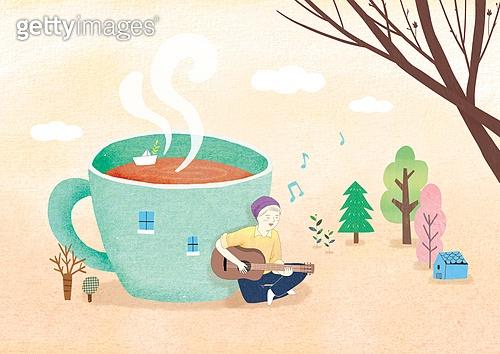 상상력 (컨셉), 동화, 위로, 환상 (컨셉), 회복 (컨셉), 겨울, 차 (뜨거운음료), 뜨거운음료 (무알콜음료), 기타 (현악기), 음악