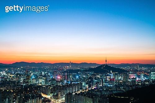 대한민국 (한국), 도시풍경, 도심지, 랜드마크, 서울 (대한민국), 풍경 (컨셉), 남산서울타워 (서울)