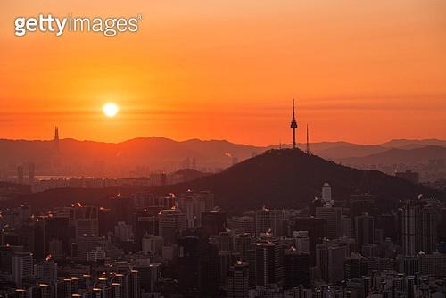 2020, 2020년, 새해 (홀리데이), 대한민국 (한국), 서울 (대한민국), 태양, 새해첫날, 일출, 남산 (서울), 남산서울타워 (서울)